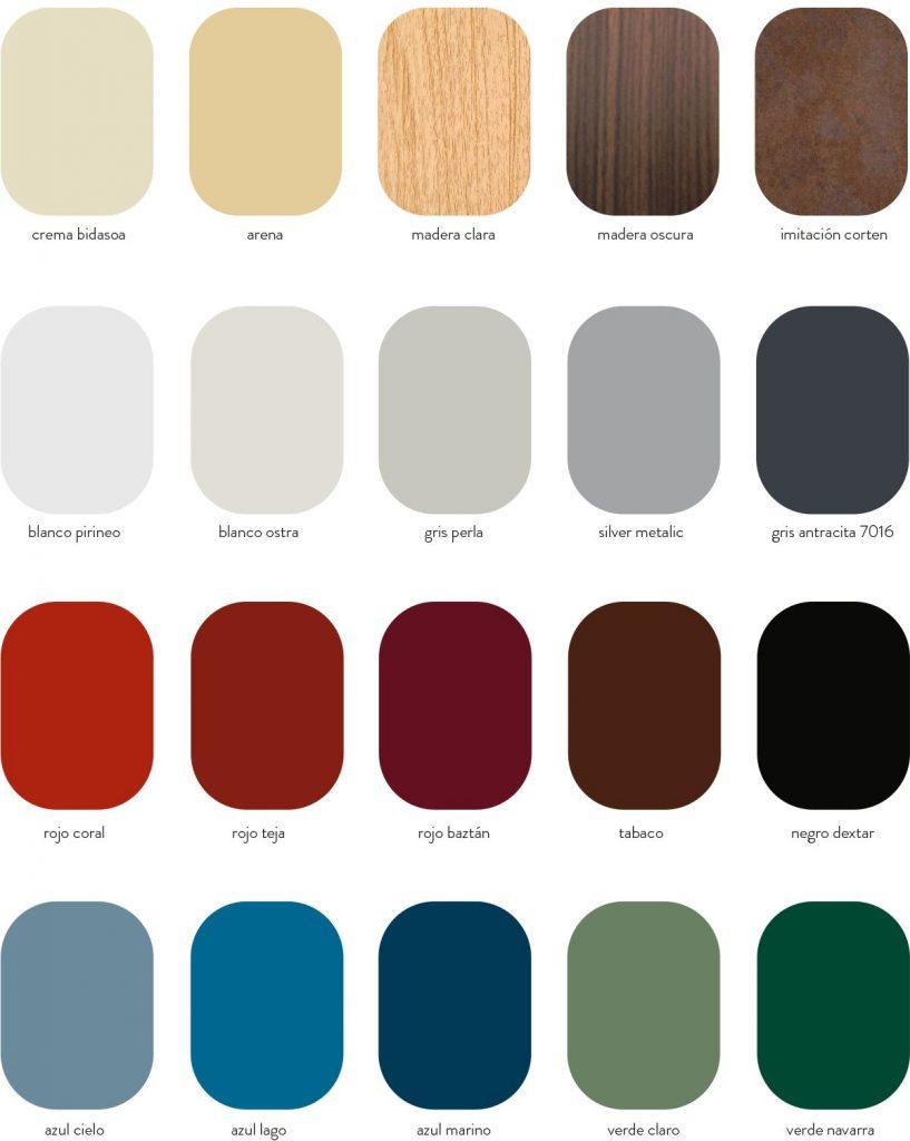 carta colores masterpanel