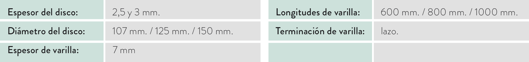 tabla caracteristicas poste lazo